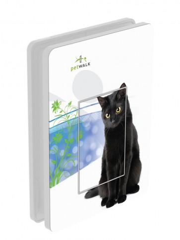 Außendekor - Medium - Acrylglas - petWALK Design - Black Cat