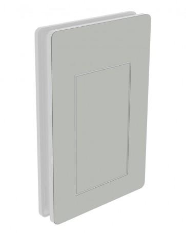 Außendekor - Large - HPL - Pastellgrau (0074)