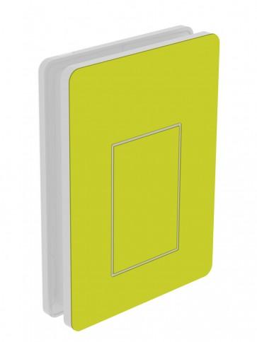 Außendekor - Medium - HPL - Gelbgrün (0725)