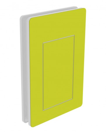 Außendekor - Large - HPL - Gelbgrün (0725)
