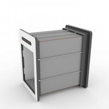 Tunnelset - 50cm - Medium - HPL - Grau/Weiss