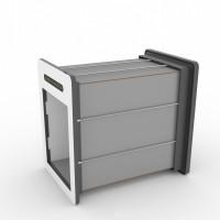 Tunnelset - 70cm - Medium - HPL - Grau/Weiss