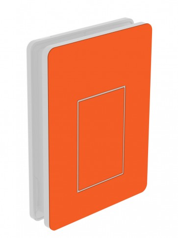 outside cover - large - acrylic glass - bright red orange (8028)