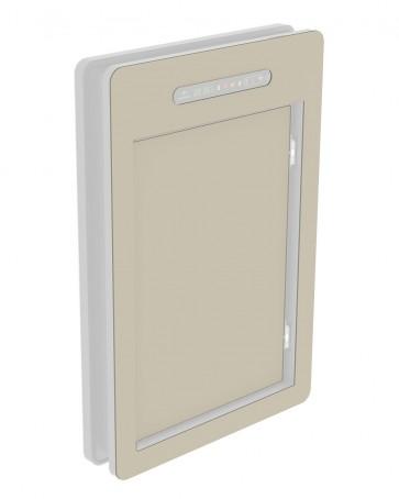 inside cover - large - acrylic glass - silk grey (7044)
