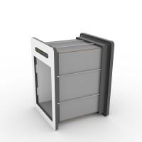 tunnelset - 40cm - medium - HPL - grey/white
