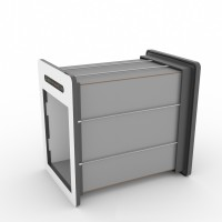 tunnelset - custom length  - medium - HPL - grey/white