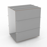 tunnelset - 70cm  - large - HPL - grey/white