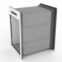 tunnelset - custom length - large - HPL - grey/white